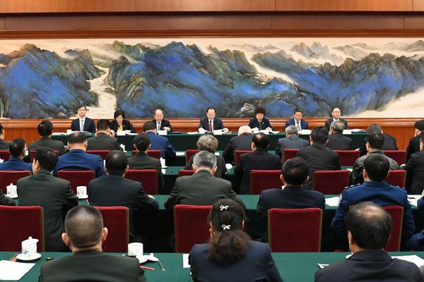 全国人大常委会办公厅举行在京全国人大代表情况通报会<BR>为代表出席十三届全国人大二次会议作准备